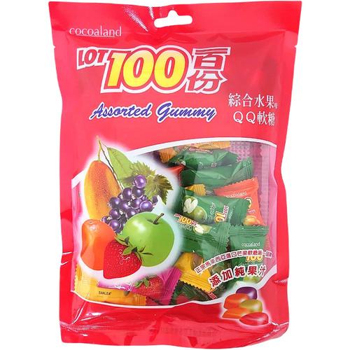 《一百份》QQ軟糖200G/袋(綜合水果味)