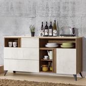《Homelike》格林5.3尺餐櫃(含石面)