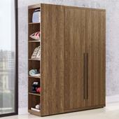 《Homelike》格林3.7尺衣櫃(胡桃木紋)