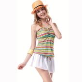 《BICH LOAN》泡湯兩件式連身裙泳裝-附泳帽13007306(S)