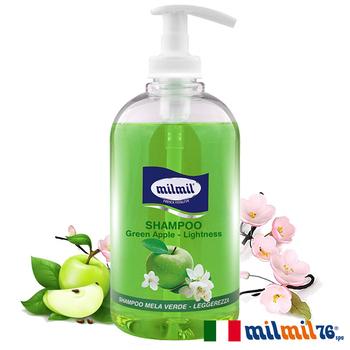 《義大利MILMIL》清爽控油青蘋果洗髮精(油性適用)(500ml)買就送歐美植萃香氛皂(隨機出貨)