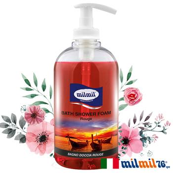 義大利MILMIL 熱情嫣紅溫和潔膚香氛沐浴乳(500ml)