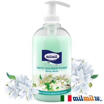 義大利MILMIL 奢華白麝香精油香氛沐浴乳(500ml)