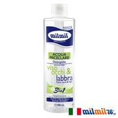 《義大利MILMIL》玫瑰&洋甘菊3合1舒敏卸妝潔膚水(500ml)