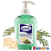 《義大利MILMIL》傳統馬賽液態皂-橄欖油(300ml)買就送歐美植萃香氛皂(隨機出貨)