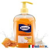 《義大利MILMIL》蜂蜜牛奶柔嫩液態皂(500ml)買就送歐美植萃香氛皂(隨機出貨)