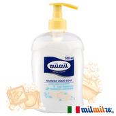《義大利MILMIL》經典傳統馬賽液態皂(500ml)買就送歐美植萃香氛皂(隨機出貨)