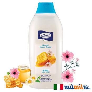 《義大利MILMIL》蜂蜜精華柔順平衡洗髮精 (一般適用)(750ml)滿888送傳統馬賽液態皂