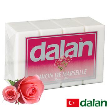 《土耳其dalan》浪漫玫瑰馬賽皂(180gX4)買就送歐美香氛皂一入(隨機出貨)