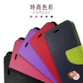 《FOR  HTC》ONE M9+  ( M9PW ) 5.2 吋    新時尚 - 側翻皮套(藍色)