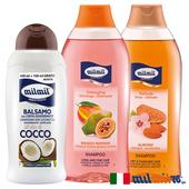 《義大利MILMIL》修護滋養洗護髮專用超值3入組(甜杏仁洗髮+荷荷巴油洗髮+椰子油護髮)買就送歐美植萃香氛皂(隨機出貨)