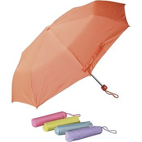 輕量防風亮彩手開折傘(顏色隨機出貨)