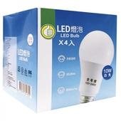《FP》LED燈泡4入 白光#10W(10W / 100V~240V)