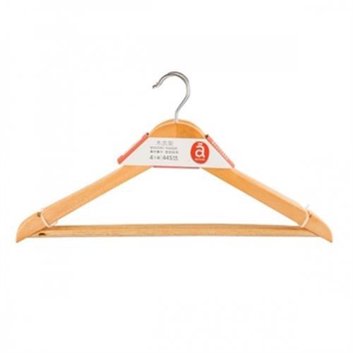 《actuel》實木衣架-4入(44.5公分)