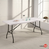邏爵LOGIS-升級版⇧多用途183*76塑鋼折合桌/野餐桌/展示桌/工作桌CZ183(白色)