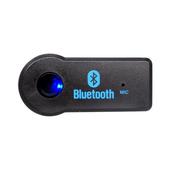 二合一按鍵式 藍牙接收器(USB/3.5mm)(黑色)