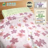 《【日本三河】》日本製三河棉天然涼感毛巾被-愛戀櫻花(櫻花愛戀-粉)