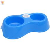 《月陽》月陽環保PP5材質中小型寵物貓狗兎雙碗式寵物碗附自動給水(26515)