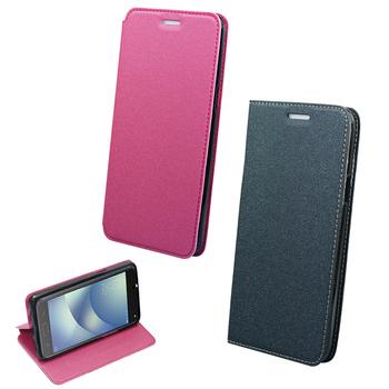 《YANGYI揚邑》ASUS ZenFone 4 Max ZC554KL 5.5吋 金沙純色車線側立隱藏磁扣皮套(灰色)