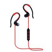 《YANGYI揚邑》YS008運動立體聲耳掛入耳式IPX4級防潑水藍牙耳機(紅色)