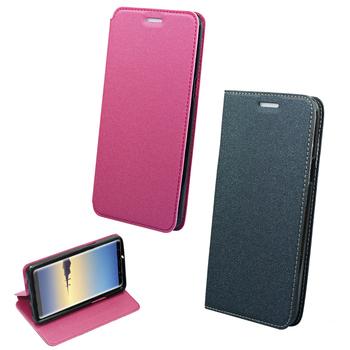 YANGYI揚邑 Samsung Galaxy Note8 6.3吋 金沙純色車線側立隱藏磁扣皮套(灰色)