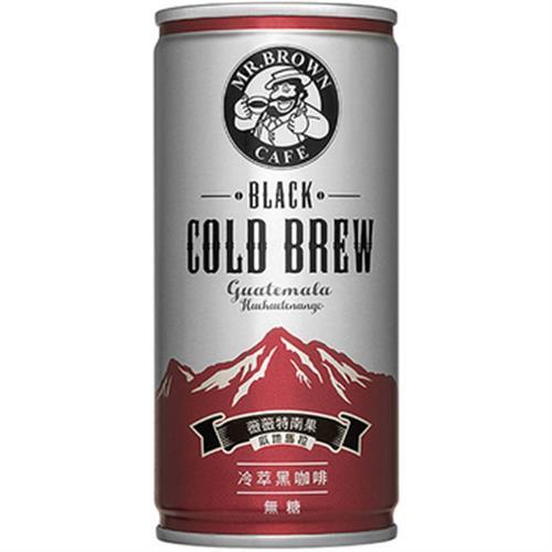 伯朗 冷萃黑咖啡(200ml*6罐/組)