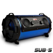 《Gmate》5吋可攜帶藍牙喇叭音箱/音砲SUB-5(雙認證藍牙版)4色可選藍色 $999