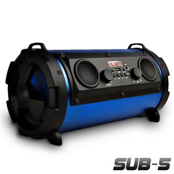 Gmate 5吋可攜帶藍牙喇叭音箱/音砲SUB-5(雙認證藍牙版)4色可選(藍色)