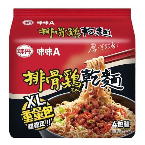 味味A 排骨雞乾麵(123g*4入/袋)
