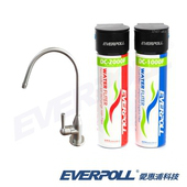 《EVERPOLL》EVERPOLL愛惠浦科技全面淨化加強除垢淨水組DCP-3000+SUS304不鏽鋼單冷龍頭H-118