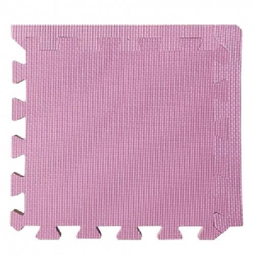《柔彩》地墊附邊條8入- 粉紅