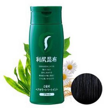 《日本原裝Sastty》利尻昆布白髮染髮劑 黑色-200g(黑色染髮劑)