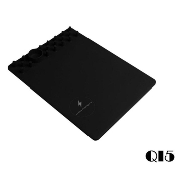 《U-ta》多功能智能無線充電滑鼠墊QI5-(通過NCC認證)(黑色)
