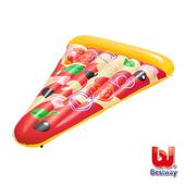 《艾可兒》Bestway。美味披薩造型充氣浮排/pizza泳圈/浮板