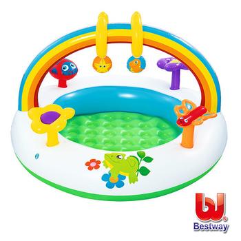 《艾可兒》Bestway。彩虹造型兩用戲水/遊戲池