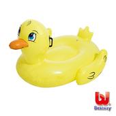 《艾可兒》Bestway。黃色小鴨兒童充氣坐騎/泳圈