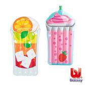《艾可兒》Bestway。熱帶飲品造型充氣浮排