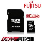 《Fujitsu》64GB MicroSDXC UHS-I Class10 記憶卡 $255