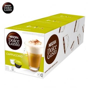 雀巢DOLCE GUSTO 卡布奇諾咖啡膠囊 (16顆/盒,3盒/組)(*1組)