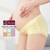 《Olivia》前交叉V款低腰後高舒適孕婦內褲(黃色)(黃色-M)