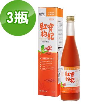 《台塑生醫》紅寶枸杞飲(600ml)3瓶/組