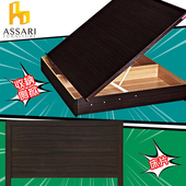 《ASSARI》房間組二件(床片+側掀)單大3.5尺(胡桃)