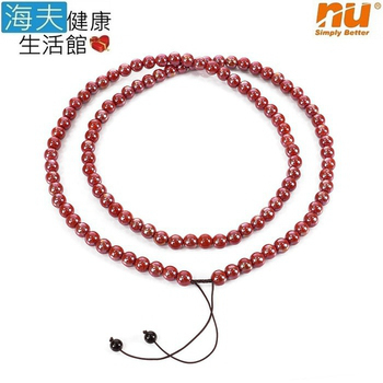 《恩悠數位x海夫》108顆 10mm 紅色 開運 能量珠 項圈