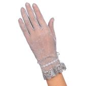 《幸福揚邑》防曬觸控手套冰絲涼感止滑透氣輕薄騎車開車-玫瑰(玫瑰-灰)