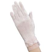 《幸福揚邑》防曬觸控手套冰絲涼感止滑透氣輕薄騎車開車-珍珠(珍珠-粉)