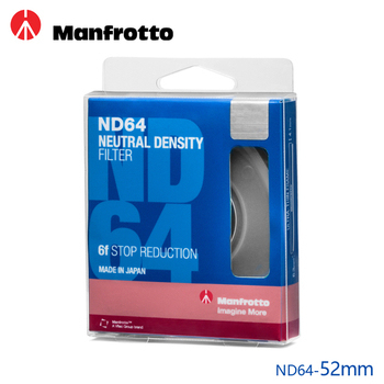 《Manfrotto》52mm ND64 減光鏡