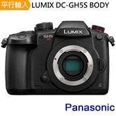 《Panasonic》LUMIX DC-GH5S 單機身*(中文平輸)-送64G記憶卡+雙鏡包+強力大吹球清潔組+硬式保護貼(黑色)