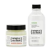 《SIMPLE as that》澳洲-植萃呵護組(乳木果潤膚舒緩膏(50g)+玫瑰化妝水(100ml))