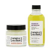 《SIMPLE as that》澳洲-植萃調理組(乳木果舒緩膏(50g)+兒茶素卸妝油(100ml))