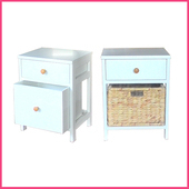 《2H 傢俱屋》歐式實木編織床頭櫃(歐式實木1號櫃)